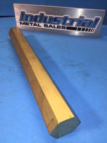 """1-1/4"""" x 12""""-Long 360 Brass Hex Bar-->1.250"""" 360 Brass Hexagonal Bar"""