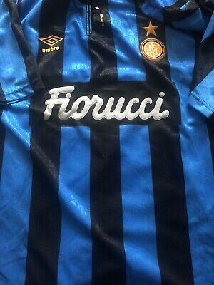 Inter Milan 1994/1995 Home Internazionale Umbro  jersey soccer image