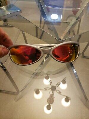 Arnette Swinger Sunglasses Silver With Fire Red Lenses. Lenses Have Lots (Swinger Arnette Sunglasses)