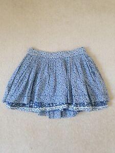 Polo Ralph Lauren Blue Floral Pleated A Line Skirt