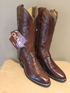 Brand new leather cowboy boots (size 8 men's)