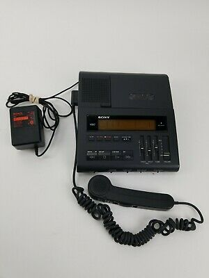 Sony Microcassette Dictator Transcriber Bm-880 Hand Control Unit Power Adapter