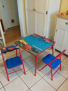 """Children's """"Cars"""" table and chairs"""