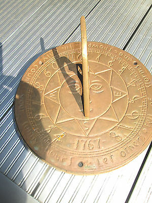 old brass sun dial