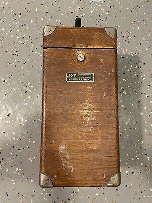 Vintage Ke Keuffel Esser Co. Survey Transit Original Wooden Box