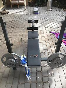 Barbell Bench Press and Weights for Sale Werribee Wyndham Area Preview
