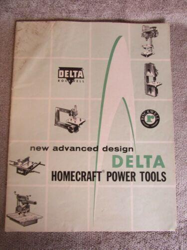 Vintage 1957 Delta Milwaukee Homecraft Power Tools Form AD-1100