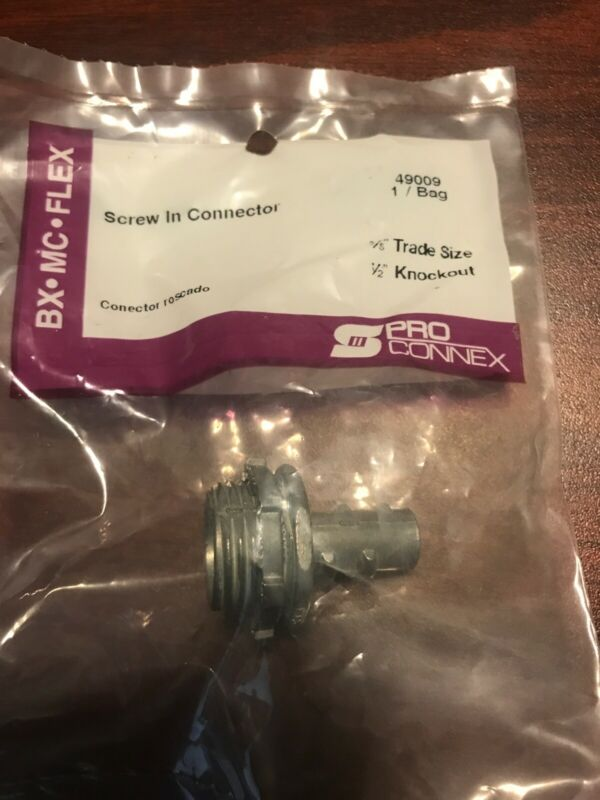 "Pro Connex BX MC Flex Screw In 3/8"" Trade Side 49009"