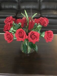 Dozen Silk roses realistic, beautiful - all 12 ONLY $10!
