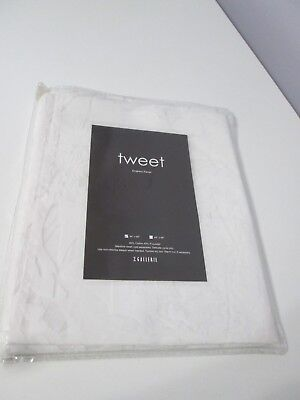 Nwt Z Gallerie Tweet Curtain Panel 44 By 84   White Shear Cotton   Polyester