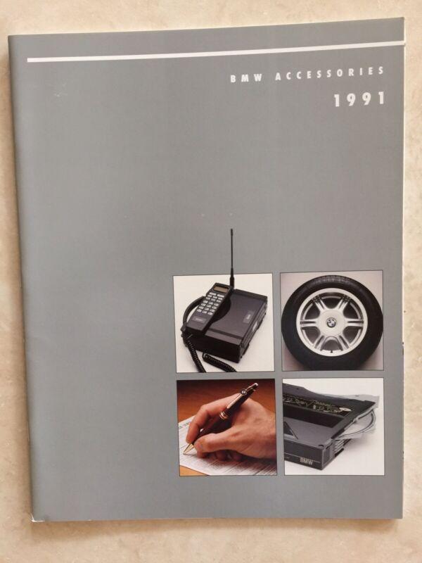 NEW 1991 BMW Accessories Brochure Catalog E30 M3 E34 M5 535i 635csi 850i 325is