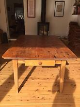 Vintage hand-made kitchen table Malabar Eastern Suburbs Preview