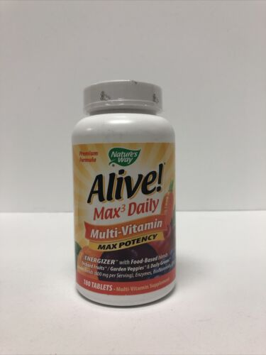 Nature's Way Alive! Multi-Vitamin Max Potency - 180 Tablets Exp: 01/31/2021
