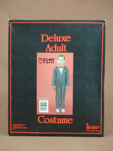 PEE WEE HERMAN ADULT HALLOWEEN COSTUME COLLEGEVILLE SIZE MEDIUM (38-40) IN BOX