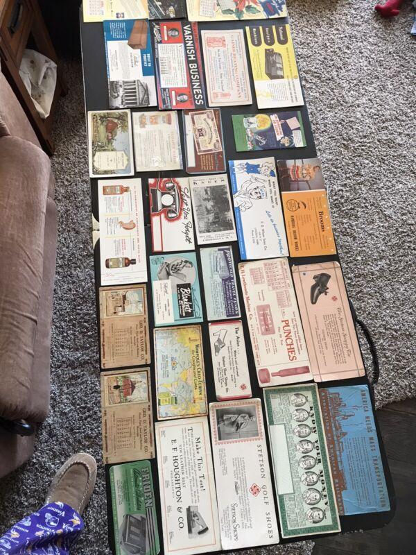 28 Vintage Ink Blotters Lot