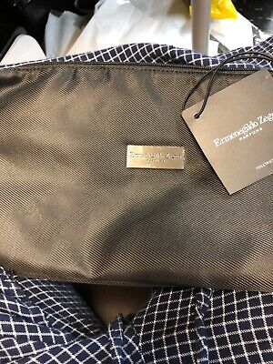 NWT ERMENEGILDO ZEGNA Parfums Men Travel Bag Travel Luggage Carry On Black for sale  Merrick