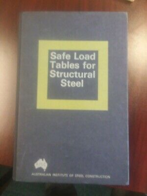 Book Safe Load Tables For Structural Steel by AISC VG