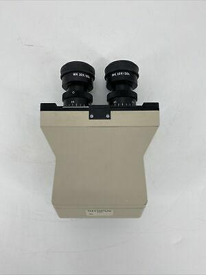 Olympus Om1202 Microscope Binocular Head With Wk 10x 20l Objectives Excellent