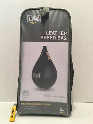 "Everlast Leather Speed Bag for Boxing & Fitness Training - Large 10"" x 7"" #4242"