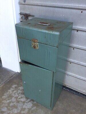 Vintage Art Deco Floor Standing Metal File Cabinet