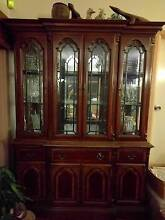 Cherry wood veneer cabinet set of 3 Seaforth Manly Area Preview