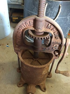 Enterprise Cast Iron Lard Press Wine Press Sausage Stuffer..6qt.