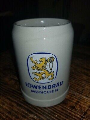 Lowenbrau Beer Mug Stein .5 Liter Munchen West Germany Stoneware Vintage