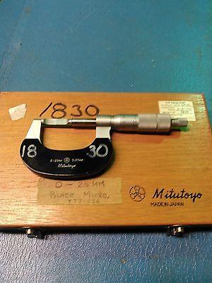 Mitutoyo Blade Micrometer 0-25mm 0.01mm 122-101a Blm-25 Metric
