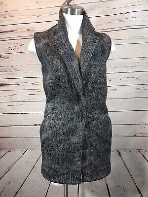 Lululemon career office vest  size 6- 8 black white tweed EXCELLENT
