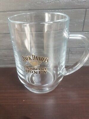 Jack Daniel's Tennessee Honey Tankard heavy Glass PUB/BAR/MANCAVE