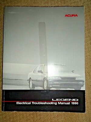1990 Acura Legend Coupe Electrical Troubleshooting Wiring Diagram Manual EWD Car