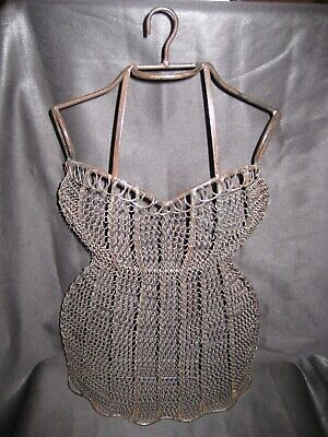 Vintage Antique Hanging Dress Wire Form Mannequin Female Busttorso Dressmaking