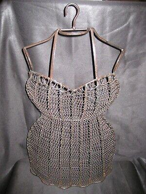 Vintage Antique Hanging Dress Wire Form Mannequin Female Busttorso Dressmaking