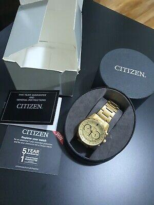 CITIZEN Chronograph wr100 Men's WATCH 0520-s1244093 Quartz GOLD