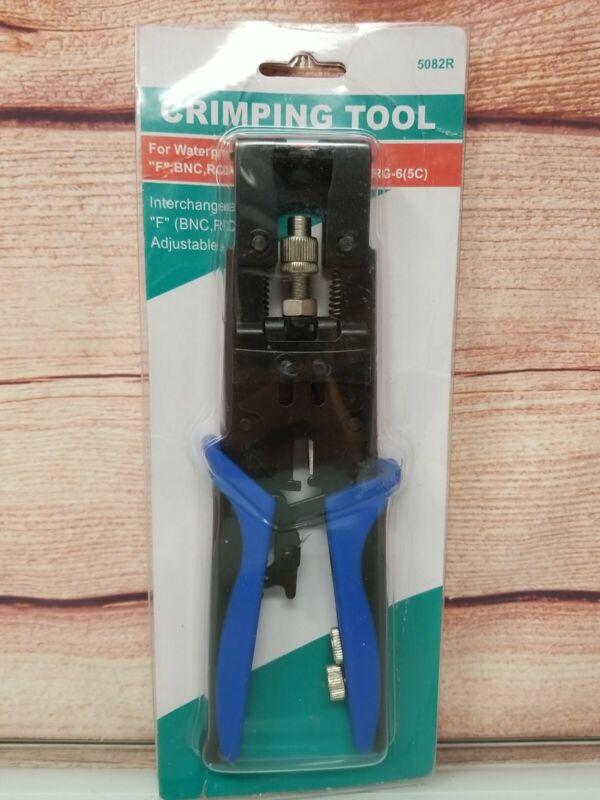3 in 1 Compression Tool BNC/RCA Crimp Tool RG59/RG6 Blue 5082R