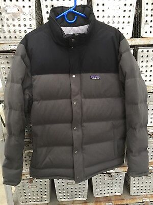 Patagonia Bivy Down Mens Jacket - Large - Gray / Black Pre-owned FREE Shipping!