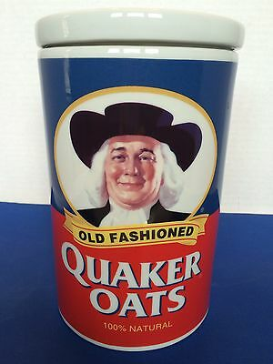QUAKER OATS 120th ANNIVERSARY 1877-1997 LIMITED EDITION COOKIE JAR / CANISTER for sale  Akron