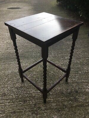 Vintage Wooden Side Table - Barley Twist Antique - Occasional