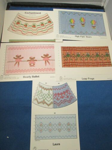 5 Smocking pattern plates - Mollie Jane Taylor
