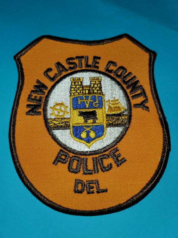 NEW CASTLE COUNTY DELAWARE DE Police Sheriff Patch COW TALL SAILING SHIP VINTAGE