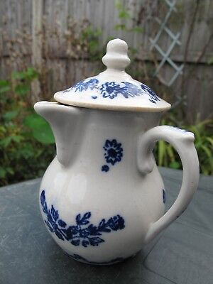 Antique Rare 18th Blue & White Chocolate Jug café au lait Tournai ? 12cm
