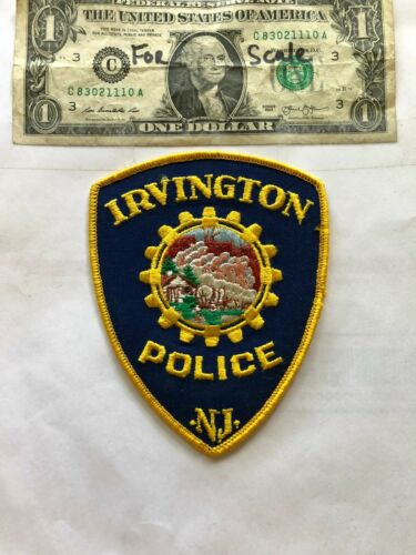 Irvington New Jersey Police Patch un-sewn in Great Shape