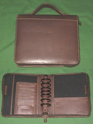 Classic 2.0 Brown Full Grain Leather Franklin Covey Planner Handle Binder
