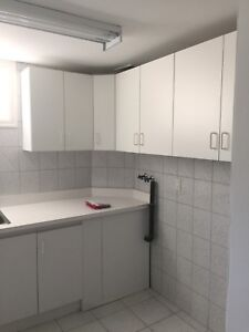 Kitchen or laundry cabinets with large 5 ft sinks