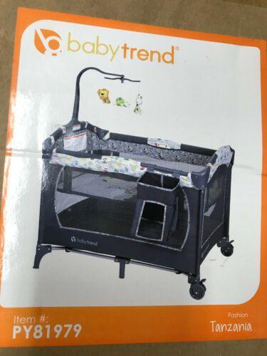 Baby Trend PY81979 Nursery Center Playard Tanzania Crib Set