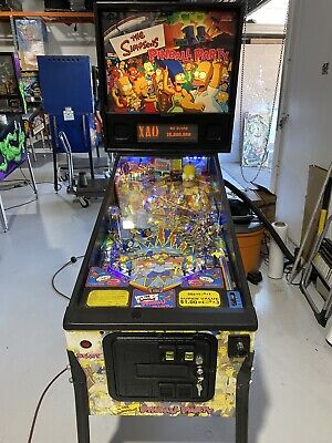 Simpsons Pinball Party Machine Stern Pinball Machine Arcade LEDs Free Shipping