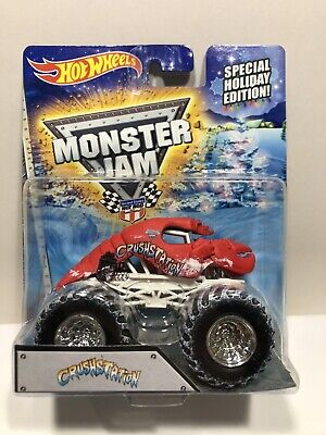 2014 Hot Wheels Monster Jam Snow Tires Special Holiday Edition Cruststation