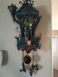 Bradford Exchange—-Disney Nightmare Before Christmas Cuckoo Clock—-Brand New