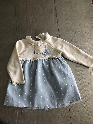 Mayoral Spanish Brand Baby Girls Dress Size 6-9 Months