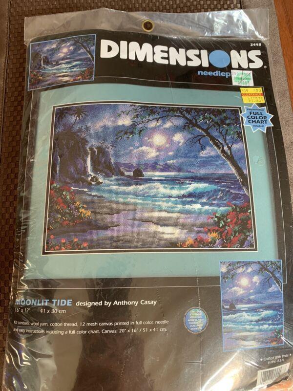 Dimensions Needlepoint Kit Moonlit Tide #2498 New Unopened